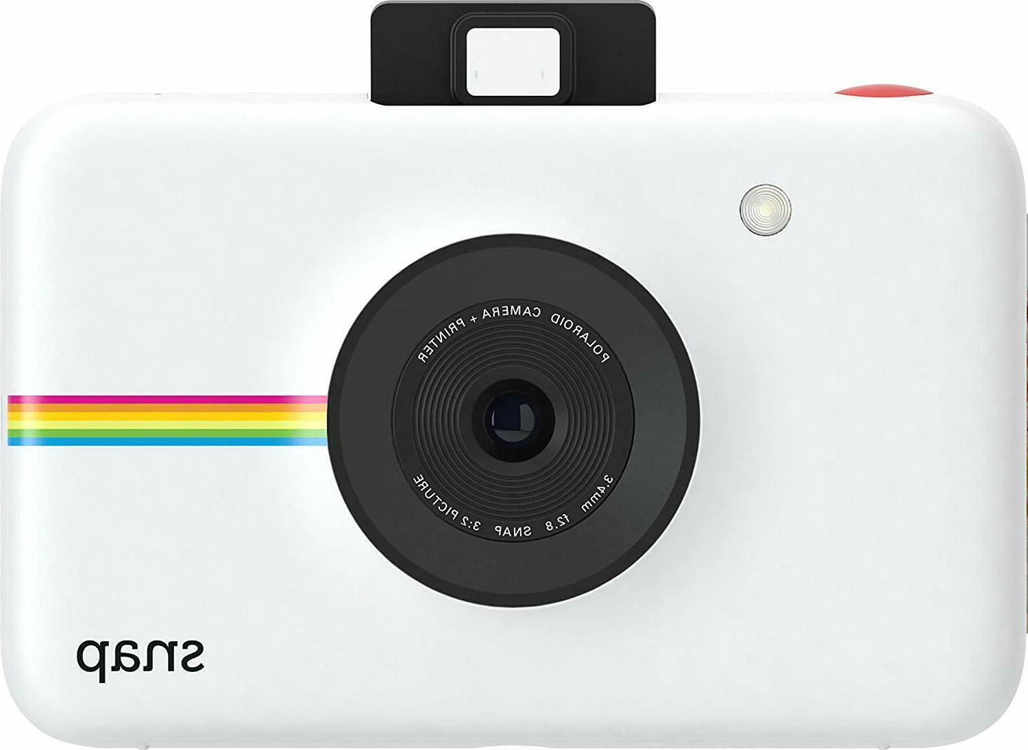 snap instant print digital white camera