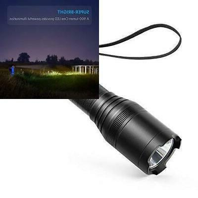 Anker Super Bright Tactical Flashlight, Rechargeable (18650