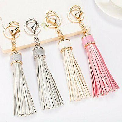 Tassel Keychain With Circle Rings Organizing Keys And Bag Accessory