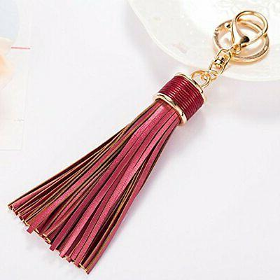Tassel Keychain With Rings For Organizing And