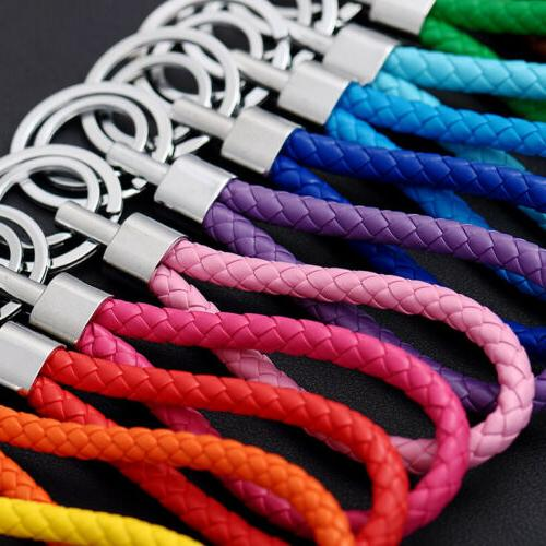 two circle multi color leather rope strap