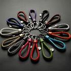 Unisex Keychain Leather Rope Strap Weave Keyring Key Chain R