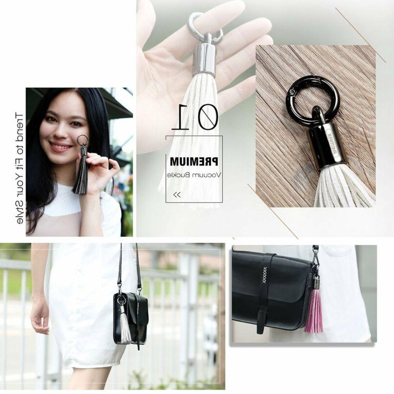 USB Leather Tassel Key Chain / Cable,