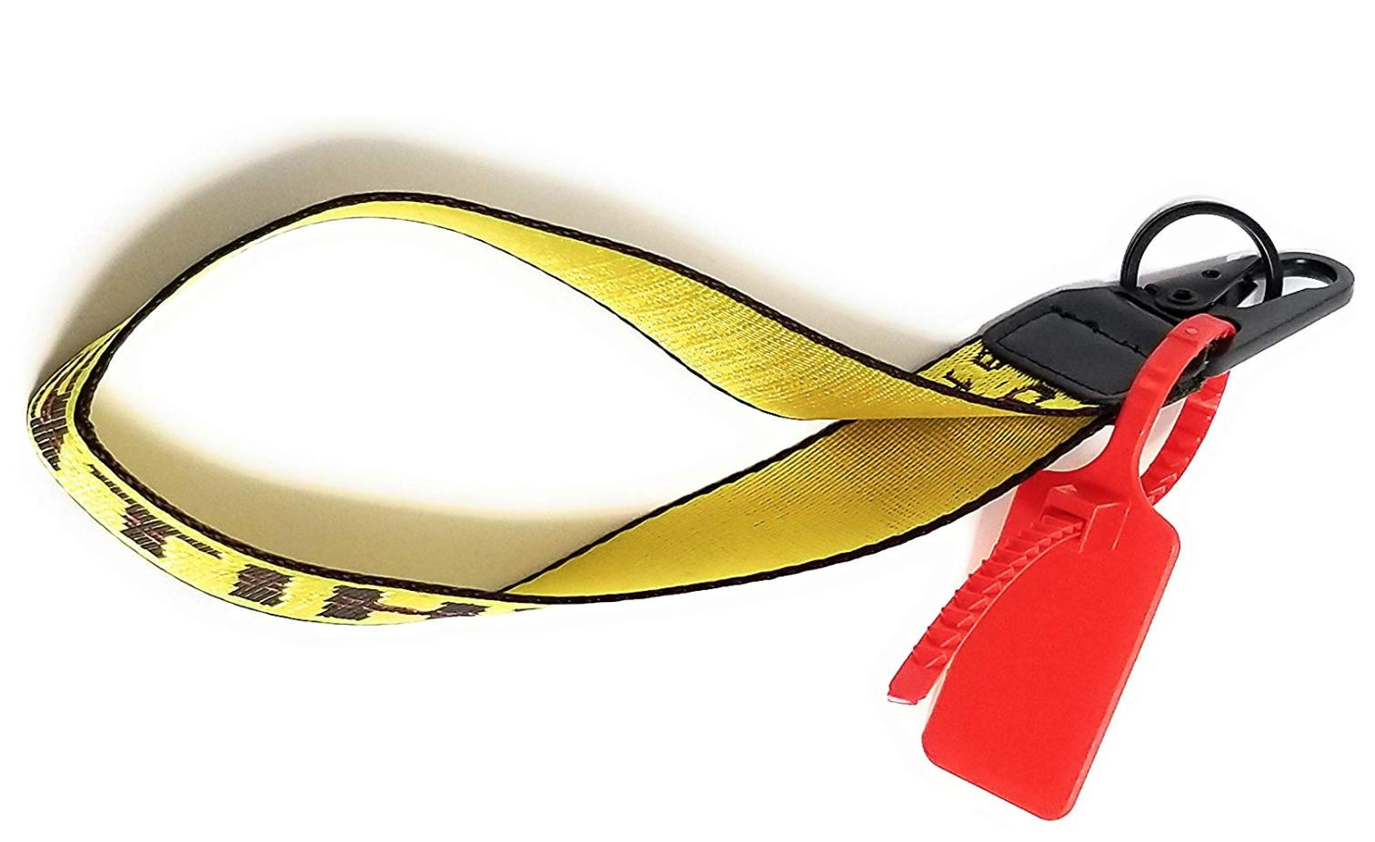 Yellow Industrial Cell Phone Strap Keychain Lanyard