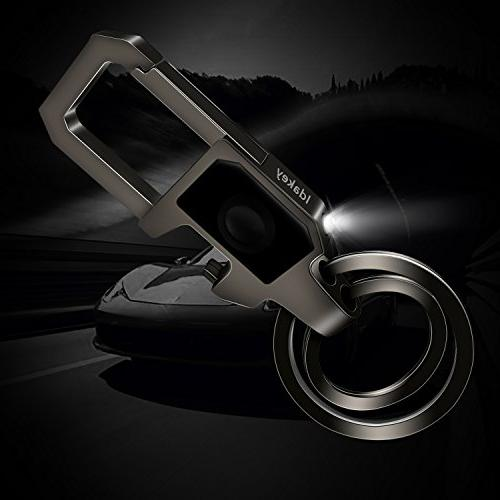 Idakey Chain Key Rings include and Function Car Business for Men Nickel