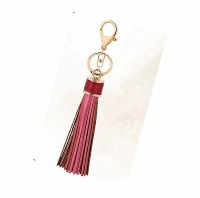 ZOONAI Women Leather Keychain Rings Gift
