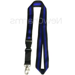 LANYARD with Detachable Key Chain Thin Blue Line Police Offi