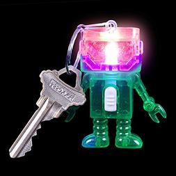 "Lumistick 2"" Light-Up Flashing Android Robot Keychain, 1 Pie"