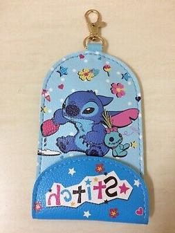 Disney Lilo Stitch Card Holder Case Badge Keychain Strap And