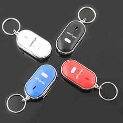 Locator Keyring Whistle Anti-Lost Keychain Tracker LED Key F