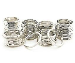 lot of 1000 split rings silver key