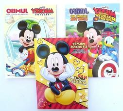 Lot of 3 MICKEY MOUSE Disney Jumbo Coloring and Activity Boo