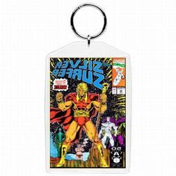 Marvel Comic Book SILVER SURFER #46 Silver Age Keychain