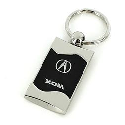 Acura MDX Black Spun Brushed Metal Key Ring