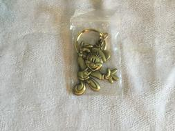 Mickey Mouse Brass Key Chain Vintage Licensed Disney Product