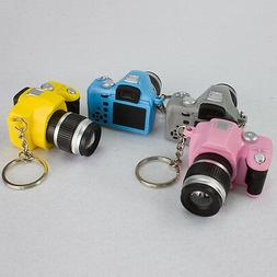 Mini SLR Camera Toy Keychain Keyring Flash Charm Ornament De