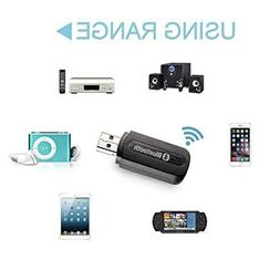 MINI USB Bluetooth 3.5mm Stereo Audio Music Receiver & Adap