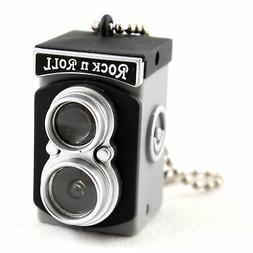 Mini Vintage Black Camera Key Chain Keychain Keyring Key Fob