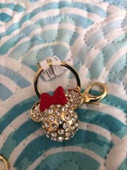 minnie mouse icon rhinestone and red bow