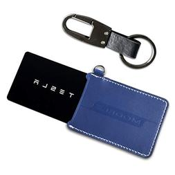 BMZX for Model 3 Key Card Holder Protector Cover w/Key Chain