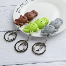 New arrival the crocodile led keychain with sound mini torch