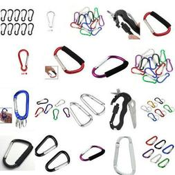 New Carabiner Spring Clip Climbing Hiking Snap Clip Hook Key