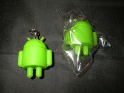 New Lot Of Rubber Robot Google Android Key Chain Charm Mini