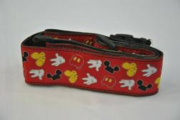 New Mickey Mouse Camera Strap Red Disney