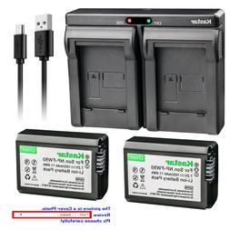 Kastar NP-FW50 Battery Charger for Sony Alpha a7S a7R II a50