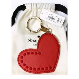 NWT Kate Spade LEATHER HEART Red Studs Details Jump Ring Bag