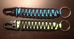 ONE  Paracord Keychain FOB 550 Tactical USA Custom Colors TJ