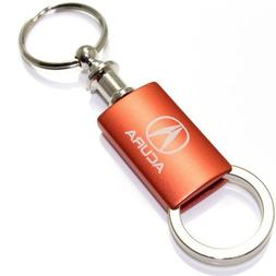 Acura Orange Logo Metal Aluminum Valet Pull Apart Key Chain