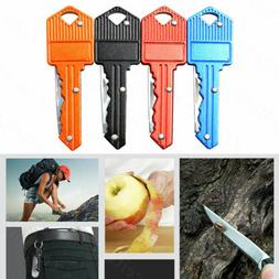 Outdoor Key Shaped Folding Pocket Knife Cutter Stainless Ste