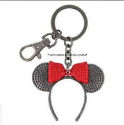 Disney Parks Minnie Mouse Ears Headband black with red bow K