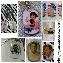 Personalized Color Photo  Dog Tag Key Chain or Necklace Keep
