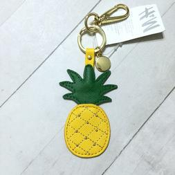 Pineapple Key Ring Chain Fob H&M Studded Faux Leather Tropic