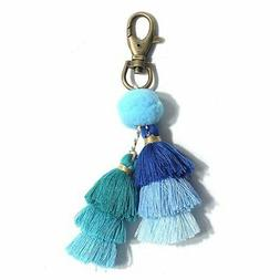 Pom Pom Tassel keychain - Women's Novelty Keychains, Light B