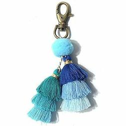 Pom Tassel Keychain - Women's Novelty Keychains For Purse Ba
