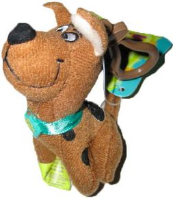 """** R@RE ** Scooby-Doo 3.5"""" Plush Key-Chain Clip-On BRAND NEW"""