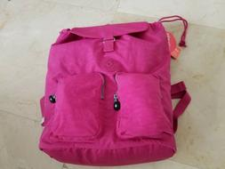 Kipling Raychel Nylon Laptop Backpack Very Berry Pink with M