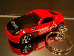 Red Nissan 370Z Key Chain Ring