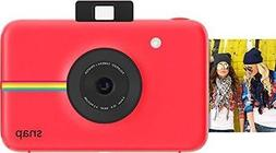 Red Polaroid Snap Instant Digital Camera with ZINK Zero Ink