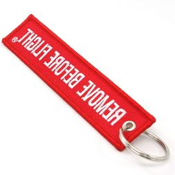Rotary13B1 Remove Before Flight Key Chain - Red/White 1pc by