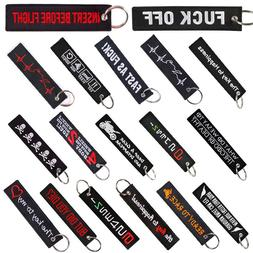 REMOVE BEFORE FLIGHT Keychain Lucky Key Ring Motorcycle Car