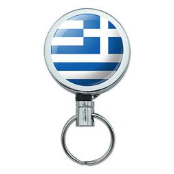 Retractable Reel Badge Key Holder with Belt Clip Country Nat