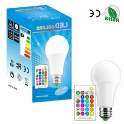 RGB RGBW LED bulb Light Color Change 15W E27 Lamp Bulbs + Re