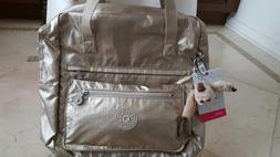 Kipling Salee Laptop Backpack Bookbag Toasty Gold with Monke