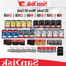 Sandisk SD Card 8/16/32/64/128 GB Memory lot Extreme Pro Ult