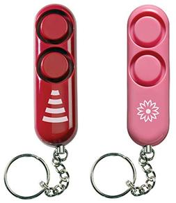 SABRE 2-Pack Set - Personal Self-Defense Safety Alarm on Key