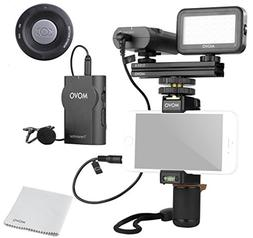 Movo Smartphone Video Kit V2 with Grip Rig, Wireless Lavalie